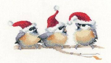 Festive Chicks  by Valerie Pfeiffer Cross Stitch Kit